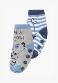 OVS - ANTISLIPPER BOY 2 PACK - Sokken - grey/blue - 0