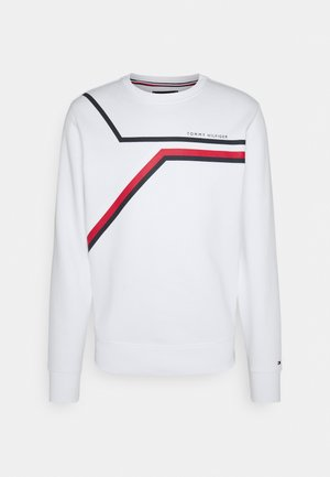 SPLIT CORP STRIPE CREWNECK - Sweatshirt - white