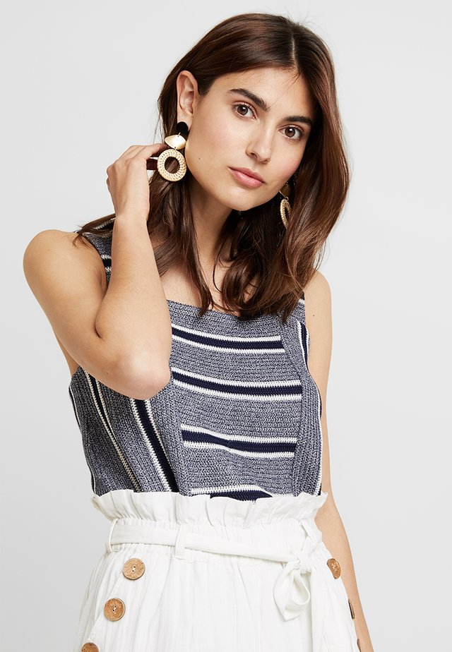 LIKE STRIPE TANK - Toppi - classic navy
