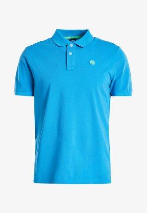 POLO S/S  W/LOGO - Poloshirt - blue fluo