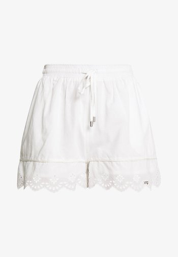 LACE BRODERIE - Shorts - chalk white
