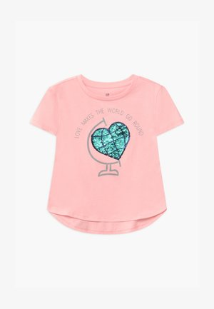 GIRLS - Triko s potiskem - light shell pink