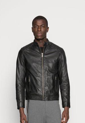 RACER - Veste en cuir - black