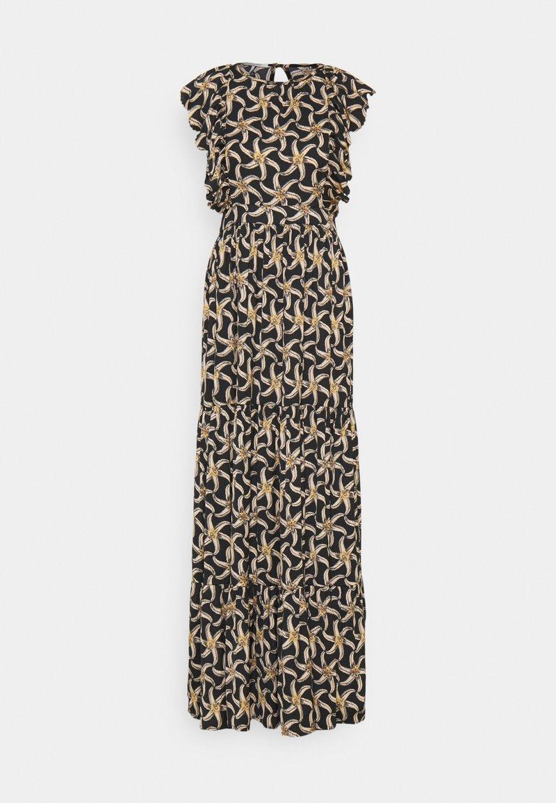 Scotch & Soda - DRAPEY DRESS WITH SCALLOPED EDGE DETAILS - Maxi dress - black