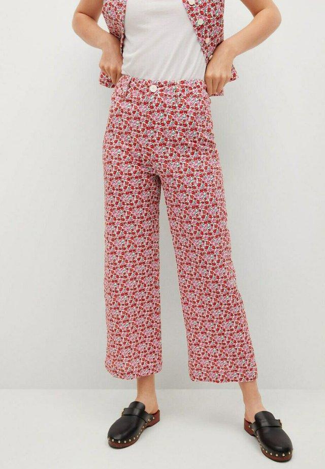 PRINTED - Pantalones - ecru