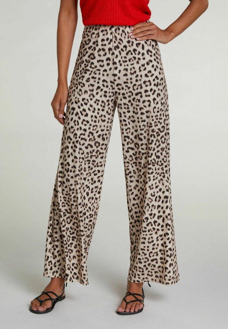 Oui - Trousers - light grey camel