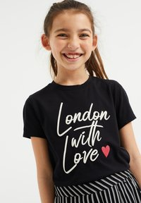 WE Fashion - Camiseta estampada - black - 1