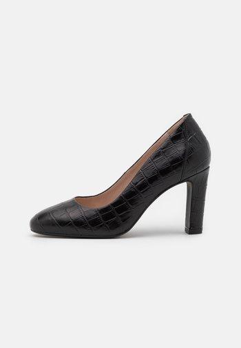 LEATHER - Zapatos altos - black