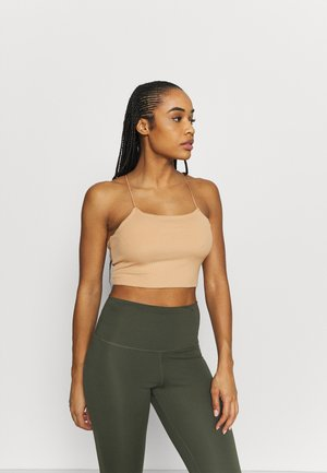 LUXE STRAPPY CAMI - Sports shirt - praline