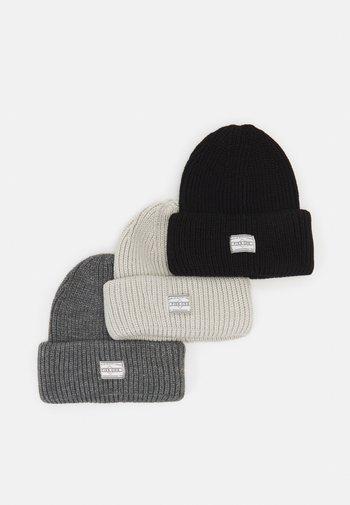 3 PACK UNISEX - Beanie - black/dark grey/off-white
