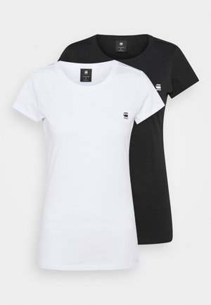 EYBEN SLIM 2 Pack - T-shirt basique - black/white