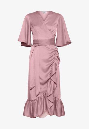 FRILL WRAP MIDI SKIRT - Cocktail dress / Party dress - lilac