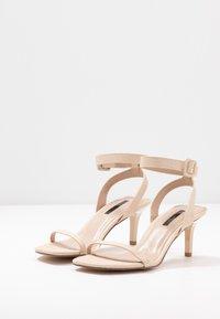 Miss Selfridge - SHAKIRA LOW STILETTO - Sandals - nude - 4