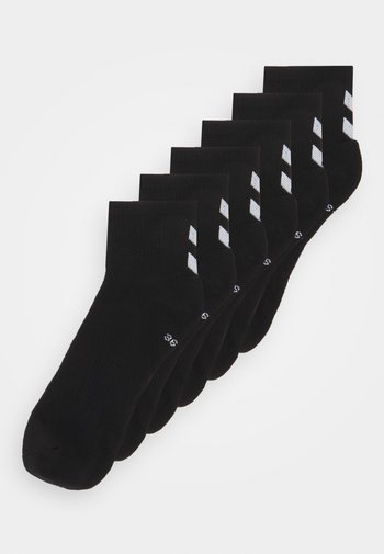 CHEVRON MID CUT 6 PACK UNISEX - Sports socks - black