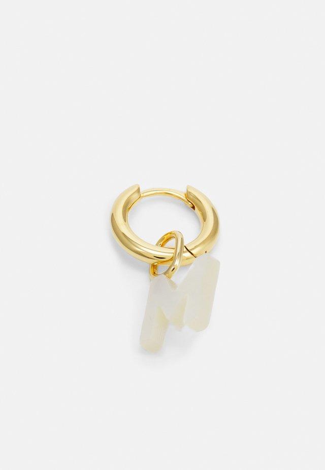 LUCID LETTER HUGGIE M - Oorbellen - gold-coloured