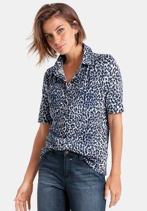 MIT 1/2-ARM - Button-down blouse - marine/white