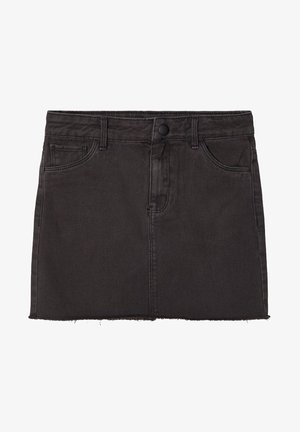 TWILLGEWEBE - Denim skirt - black