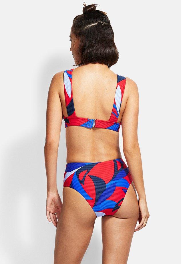 ALOHA BANDED  - Bikini top - chilli
