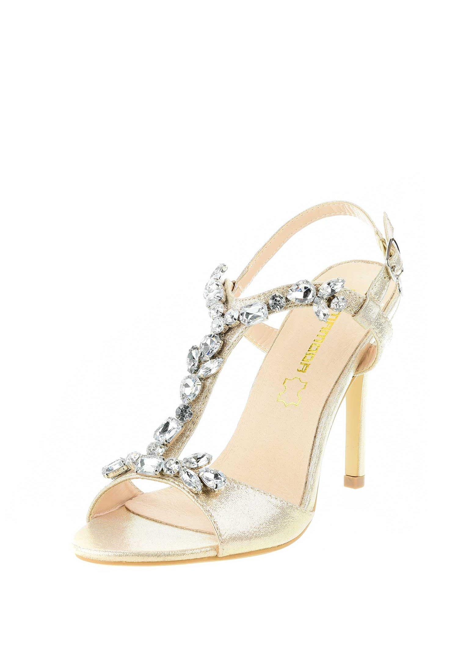 PRIMA MODA VAGLIODI High Heel Sandalette platinum/gold