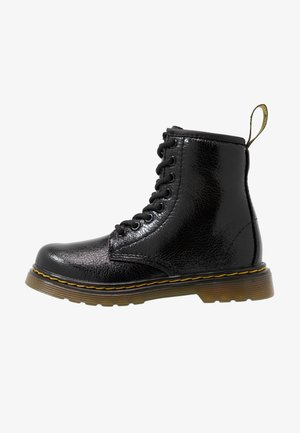 1460 J  Crinkle Metallic - Veterboots - black metallic