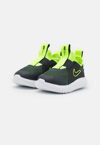 Nike Performance - FLEX PLUS UNISEX - Neutral running shoes - dark smoke grey/volt/white - 1