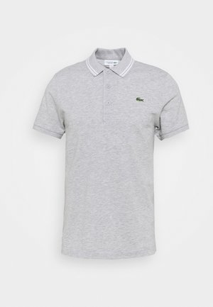 DETAILED COLLAR - Poloshirt - silver chine/white