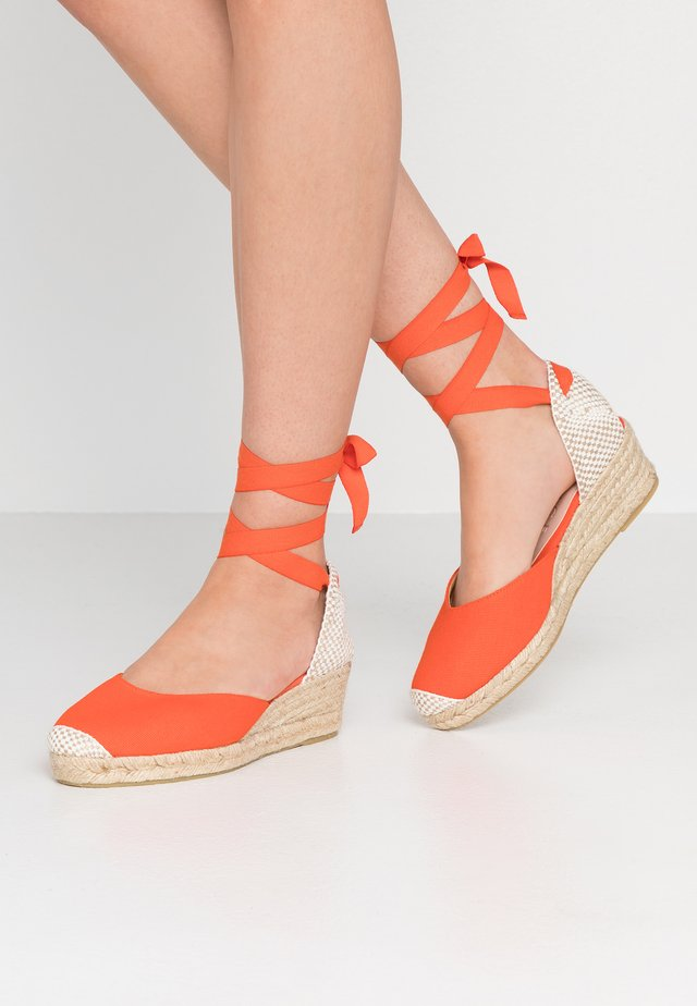 MINI - Lace-up heels - orange