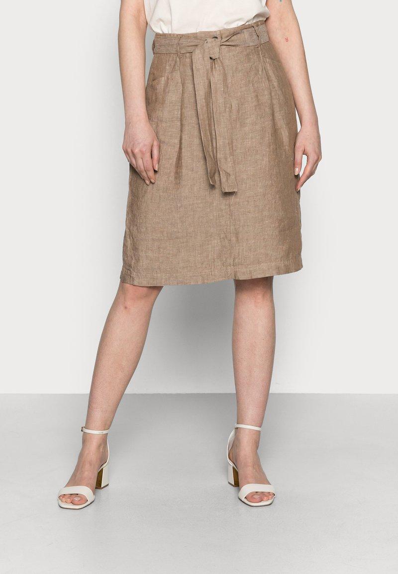 Opus - RAILA - A-line skirt - maple