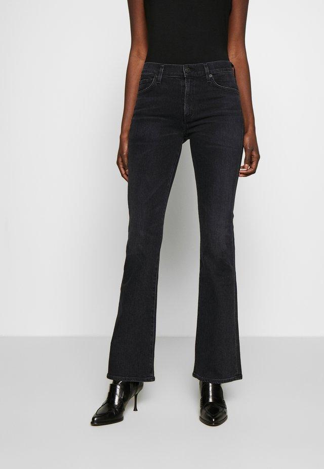 EMANNUELLE - Jean bootcut - black