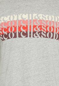 Scotch & Soda - LOGO - T-shirt print - grey melange - 6