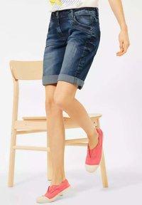 Cecil - Denim shorts - m blue denim - 1
