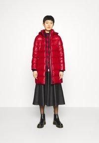 Calvin Klein - ESSENTIAL REAL COAT - Down coat - tango red - 1