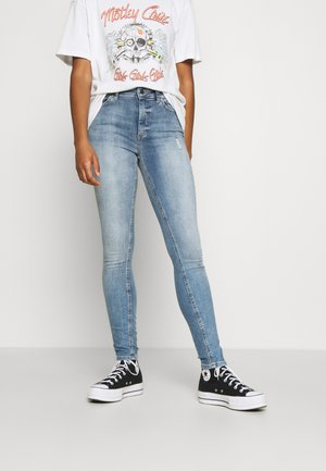 ONLBLUSH HIGH WAIST - Jeans Skinny Fit - light blue denim