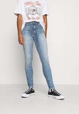 ONLBLUSH HIGH WAIST - Skinny džíny - light blue denim