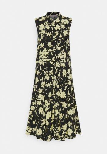Vestido camisero - black/yellow