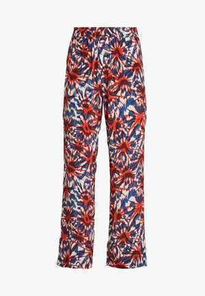 NOMI TROUSERS - Bukse - red/blue