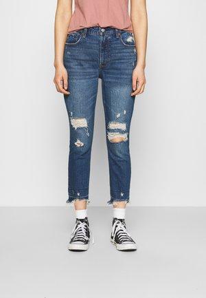 Slim fit jeans - dark destroy