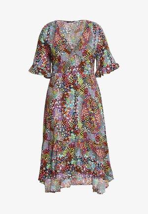 BUTTON THROUGH WRAP MIDI DRESS - Denní šaty - multicoloured
