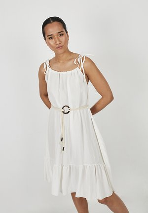 Korte jurk - blanco