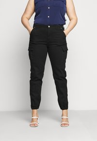 MICHAEL Michael Kors - CARGO - Relaxed fit jeans - black - 0