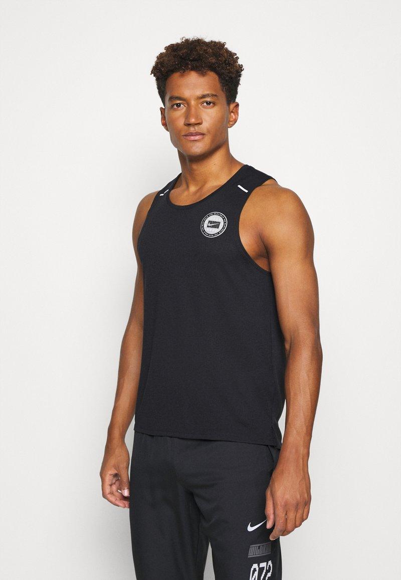 Nike Performance - MILER TANK - Sports shirt - black/sail/silver
