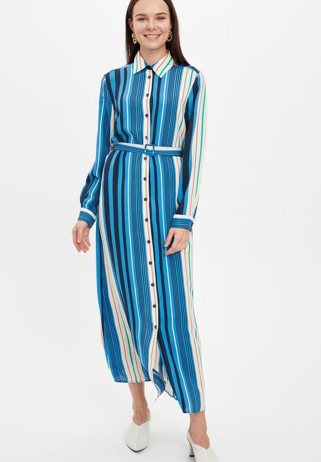 Robe chemise - turquoise