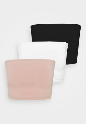 3 PACK - Top - black/white/pink