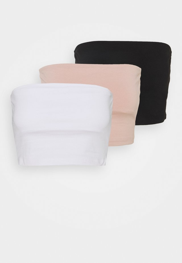 3 PACK - Toppi - black/white/pink