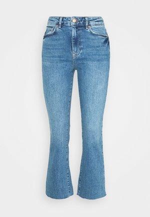 YLVA PETITE - Flared Jeans - mid blue