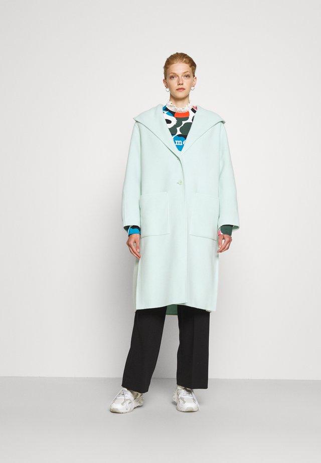 HOODED COAT - Cappotto classico - aqua