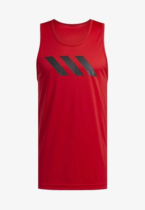 SPORT 3-STRIPES TANK TOP - Sports shirt - red