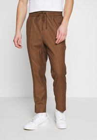 New Look - PIN STRIPE PULL ON - Broek - stone - 0