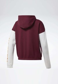 Reebok - TRAINING ESSENTIALS LOGO HOODIE - Hettejakke - burgundy
