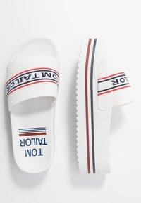TOM TAILOR - Pantofle na podpatku - white - 3